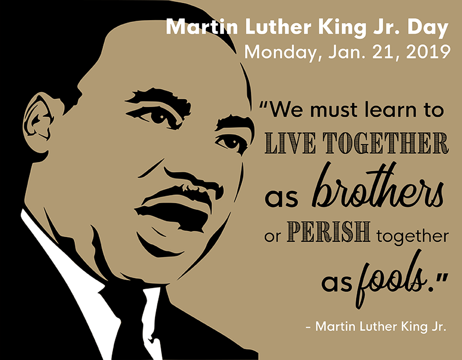 Martin Luther King Jr Day Page With Banner And Content Boxes