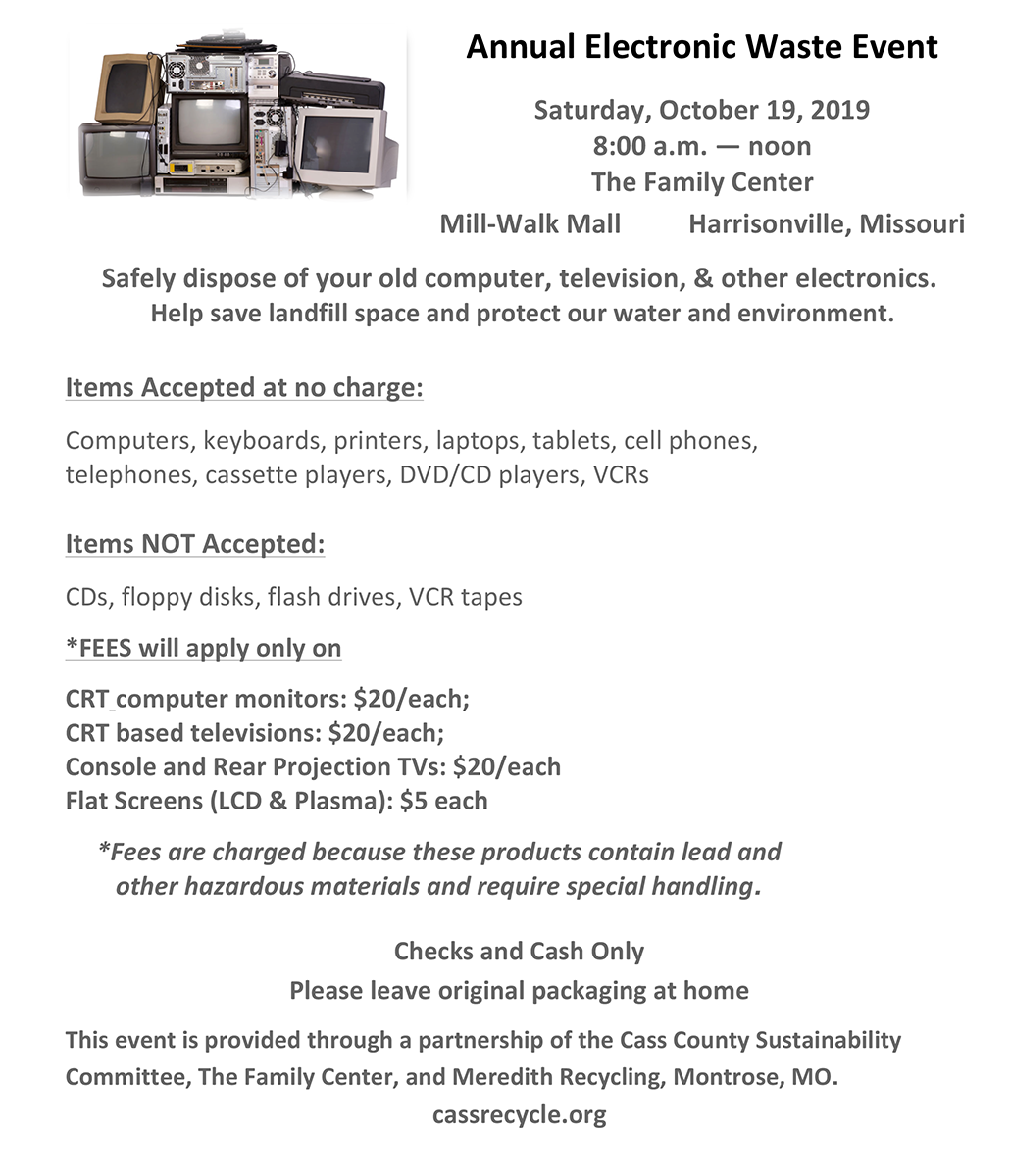 Annual Electronic Waste Event 1-1